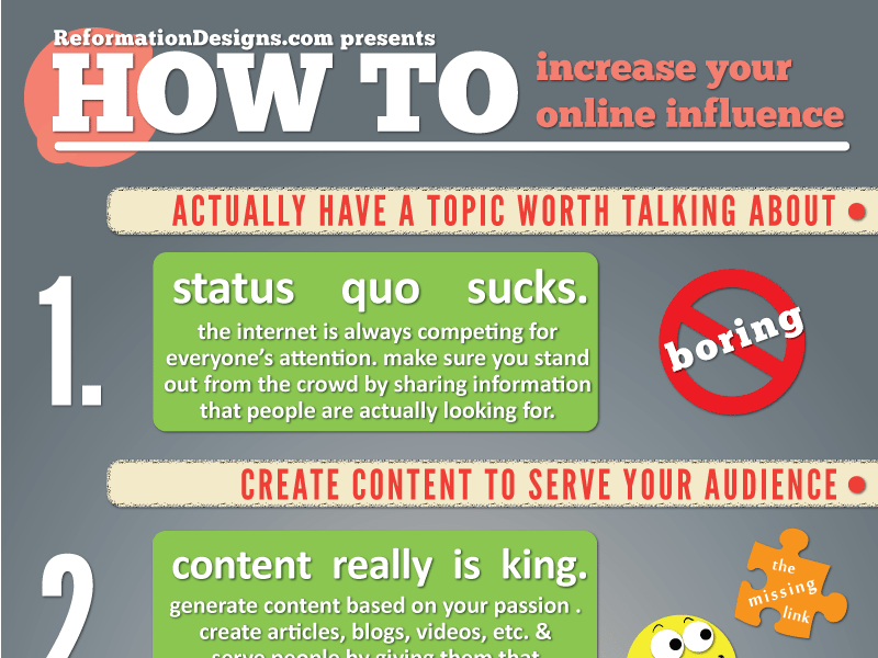 How to Increase Your Online Influence [Infographic]