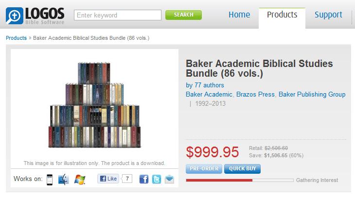 Baker Academic Offers 86-Volume Biblical Studies Bundle via Logos