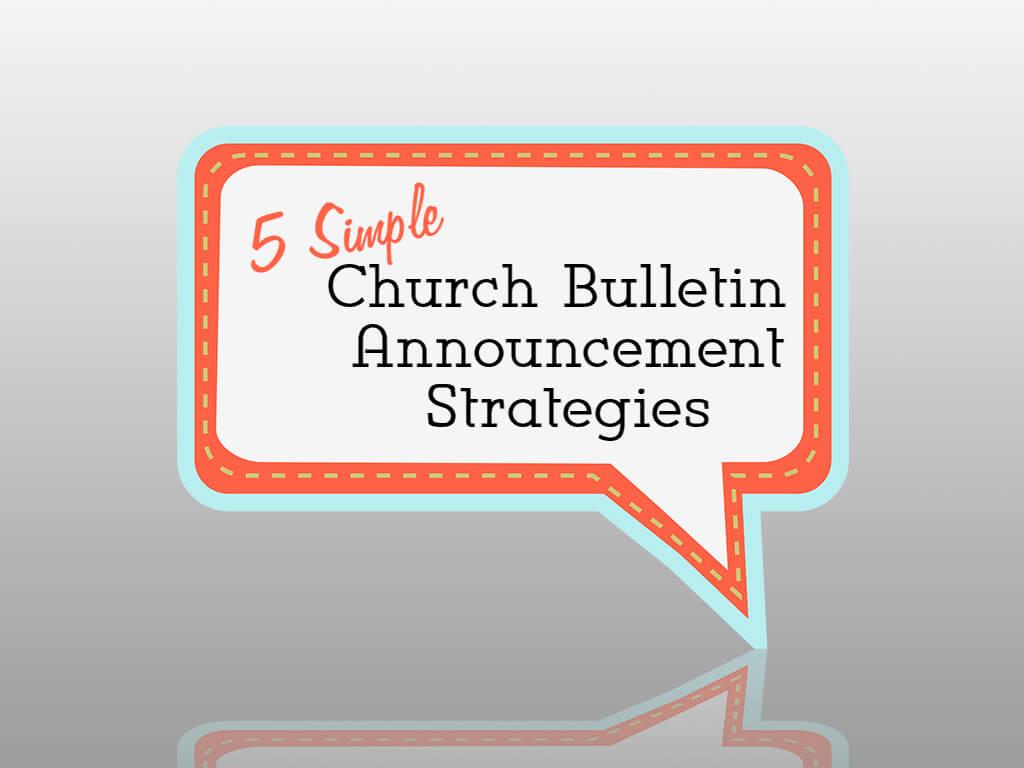 Home church communication 5 simple church bulletin