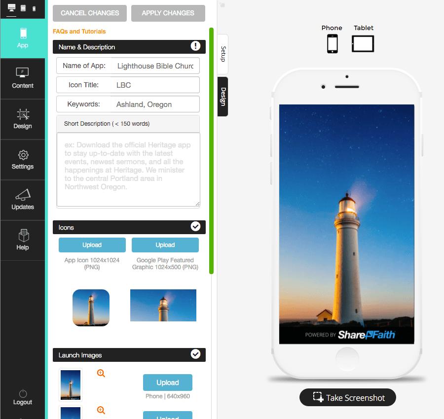 sharefaith app builder