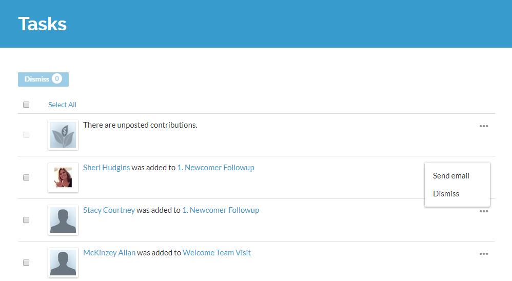 ACS Realm Tasks lists
