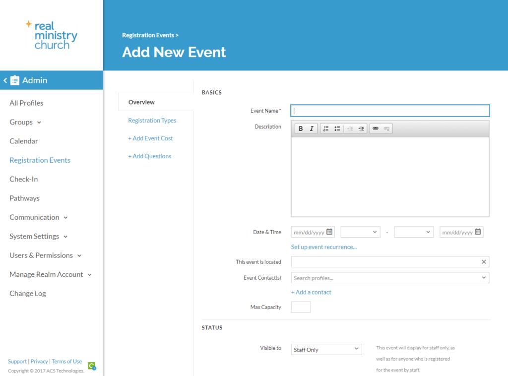 ACS Realm registration event