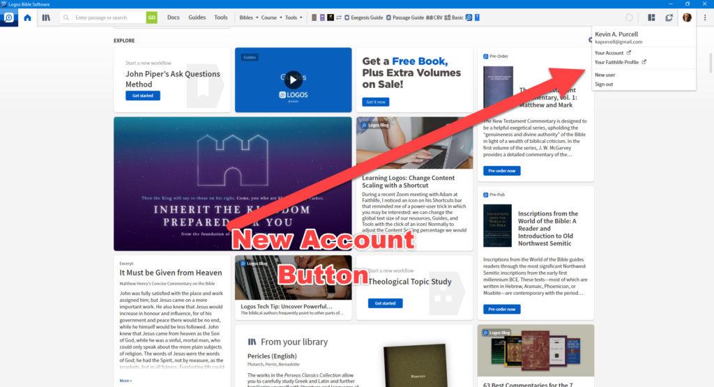 logos 9 new account button